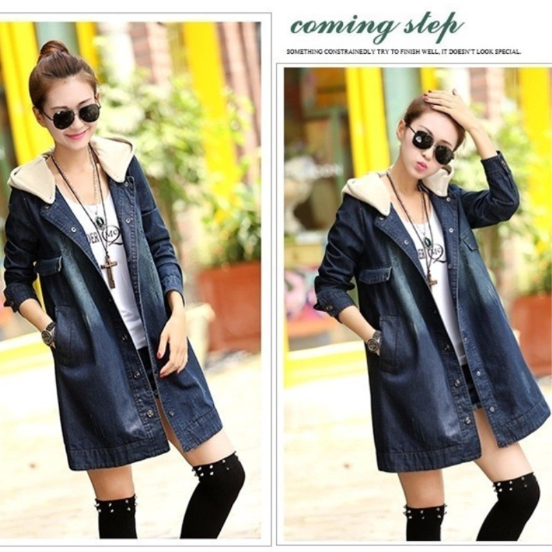 BAHEMAMI 2015 Autumn Winter Maternity Coat loose big yards detachable hooded denim coat Windbreaker Clothes For Pregnant Women все цены