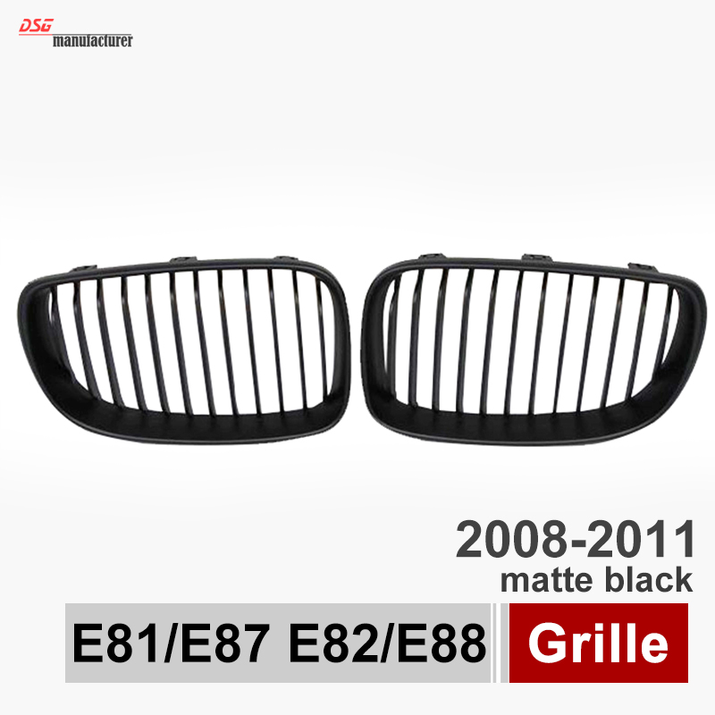 ФОТО E82 E88 ABS front bumper grille for BMW 1 series e81 e87 2008 2009 2010 2011 2 door coupe & cabriolet car styling gloss black