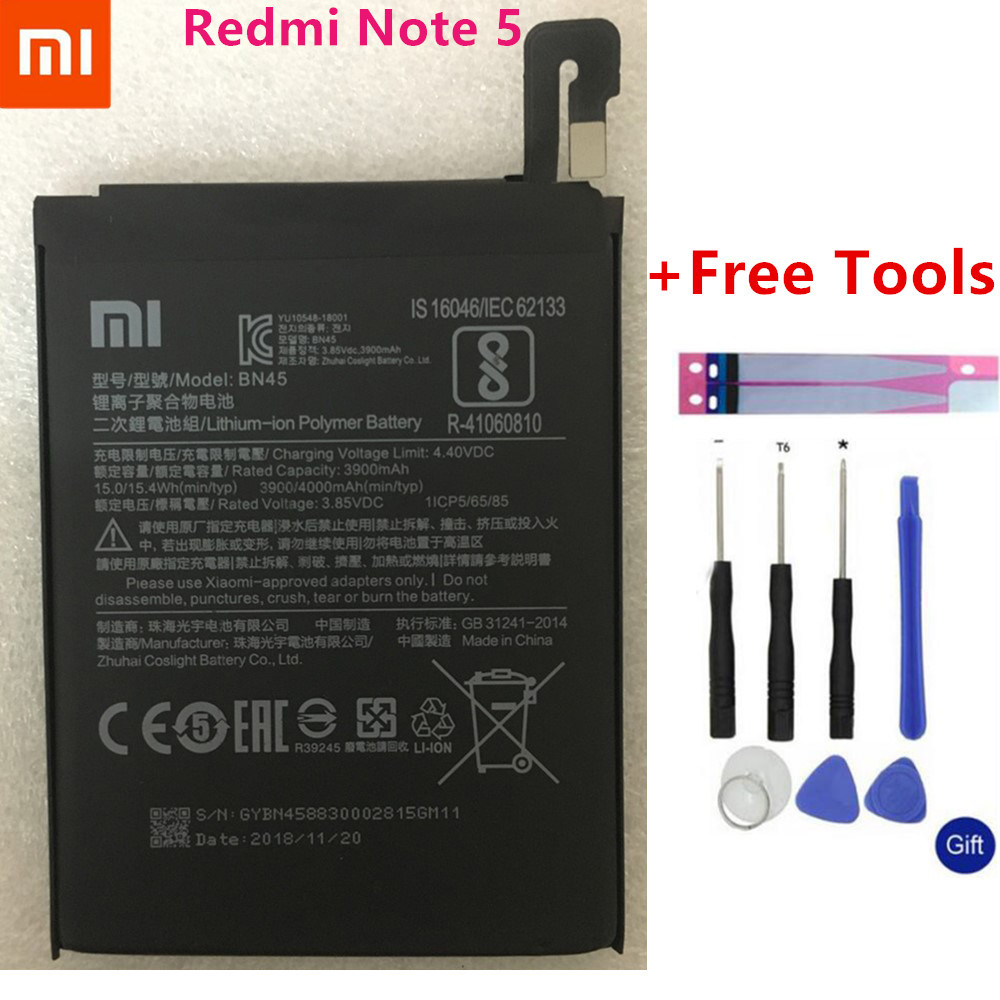 Xiao mi BN45 Telefon Batterie Für Xiao mi Red mi Hinweis 5 Note5 Original Handy Batterien Kostenlose Tools
