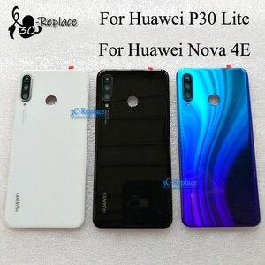 Image 1 - Оригинальный 6,1 дюймовый для Huawei P30 Lite / Nova 4E MAR LX1 L01 L21 L22 стеклянная задняя крышка батарейного отсека Корпус батарейного отсека задняя крышка