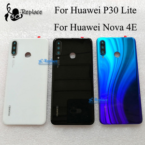 Image 1 - Original 6.1 inch For Huawei P30 Lite / Nova 4E MAR LX1 L01 L21 L22 Glass Battery Back Cover Case Battery Housing Rear Cover