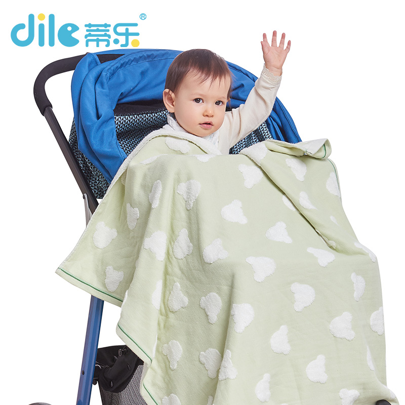 Dile Baby Bath Towels 100% Cotton Gauze Solid New Born Baby Towels Ultra Soft Strong Water Absorption 1 Piece 90*90cm fashionable color block bus pattern soft cotton hooded towels