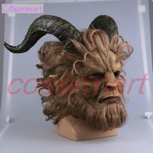 2017 Hot Movie Beauty and the Beast Adam Mask Cosplay Horror Mask Latex Lion Helmet Halloween