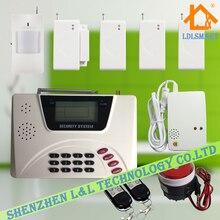 Две Антенны ЖК GSM и PSTN Двойного Сети Wireless Security Домашняя Сигнализация 900/1800/1900 МГц
