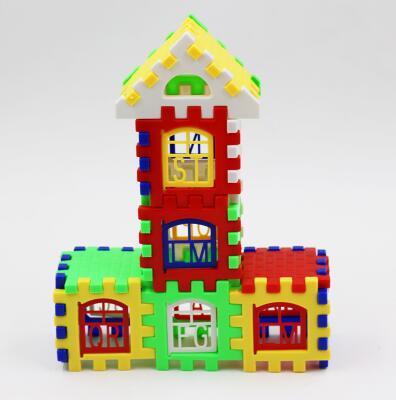 2016 New Brand Baby Kid Children House Building Blocks Construction Developmental Toy Set Brain Game
