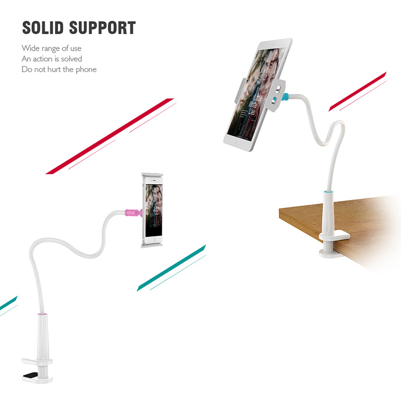 Universal Long Phone Holder For iPhoneX iPad Xiaomi Huawei Samsung Smartphones Tablet Pad Bed Bracket Desk Mobile Holder Stand