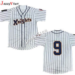 ce79d513b70 Button Down Throwback Jerseys Mens York Knights 9 Roy Hobbs Natural Beige  Movie Stitched