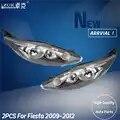 ZUK 2 pièces gauche + droite avant pare chocs phare phare lampe frontale pour Ford Fiesta 2009 2010 2011 2012 avec ampoules à l'intérieur
