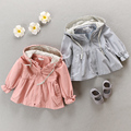 Female baby autumn wear dust coat 2017 spring coat pure cotton 0-1-2-3 children aged infant coat dust coat or lend out clothes