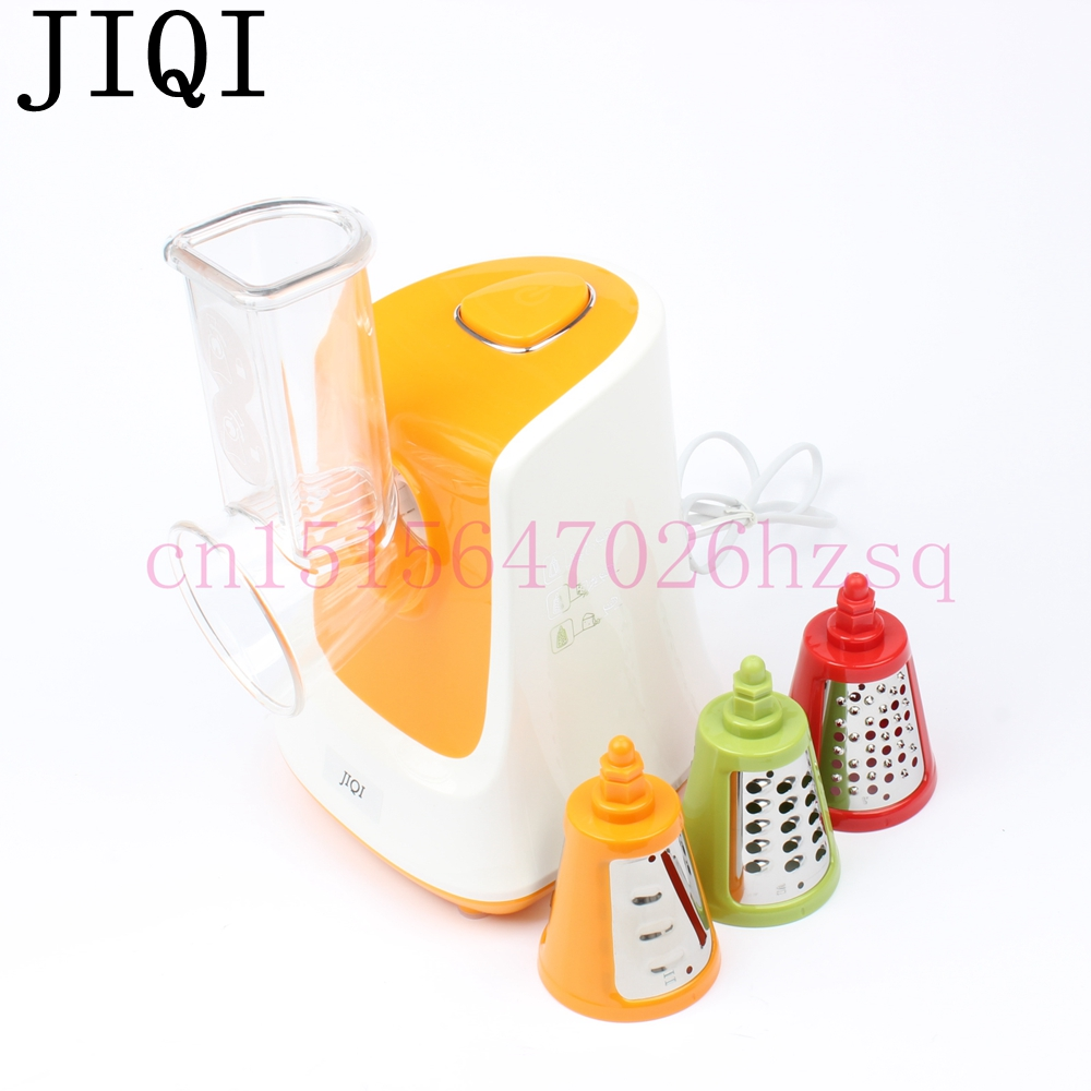 JIQI Household Electric shredder 150W Vegetable Cutter Multifunctional For Shaving ice/Salad Cooking machine Kitchen appliances jiqi household slicer cutter blenders multifunctional grinder fruit and vegetable cutters water ice salad maker with 5 cutters