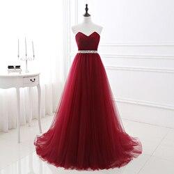 2018 простое женское красное вечернее платье, Формальные платья из тюля, вырез в виде сердца, расшитое блестками, выпускное платье для выпускн...