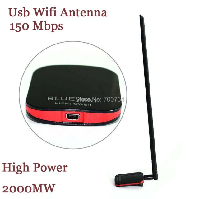 5 PCS N9500 Blueway High Power 2000 MW Ralink 3070 Wifi USB wi fi Antena 15dBi wireless Lan Card