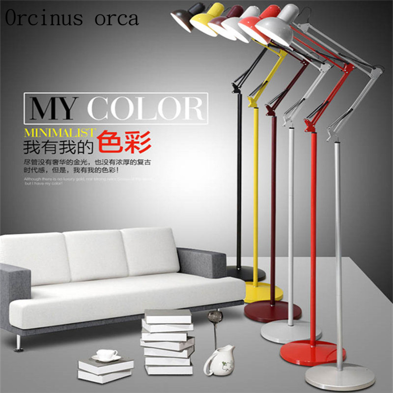 Lights & Lighting Lamps & Shades Nordic Retro Simple Vertical Lamp Living Room Study Smart Remote Control Eye Protection Floor Lamp For Bedroom Led Lighting Big Clearance Sale
