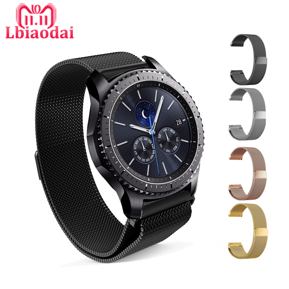 Milanese Loop Strap For Samsung Gear S3 Classic/Frontier band S2 huawei smart watch link bracelet Wrist WatchBand Strap все цены