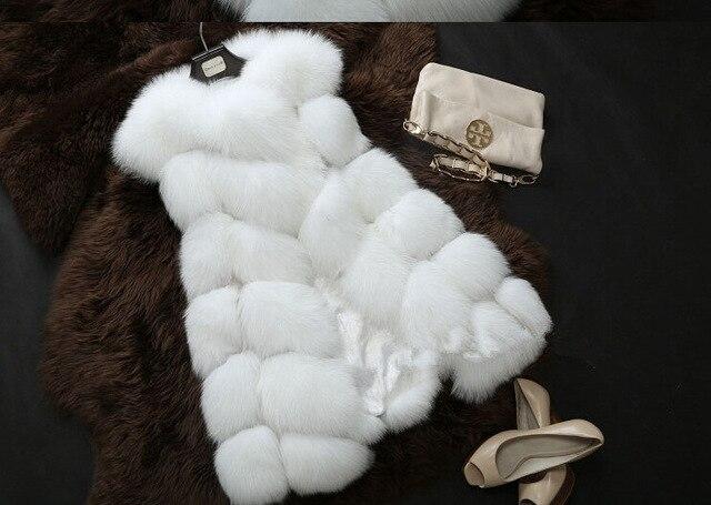 New 2016 Winter Coat Women Fur Vest  With a Pocket  High-Grade Faux  Fur Coat Leisure Women Fox Fur Long Vest Plus  Size:S-XXXXL