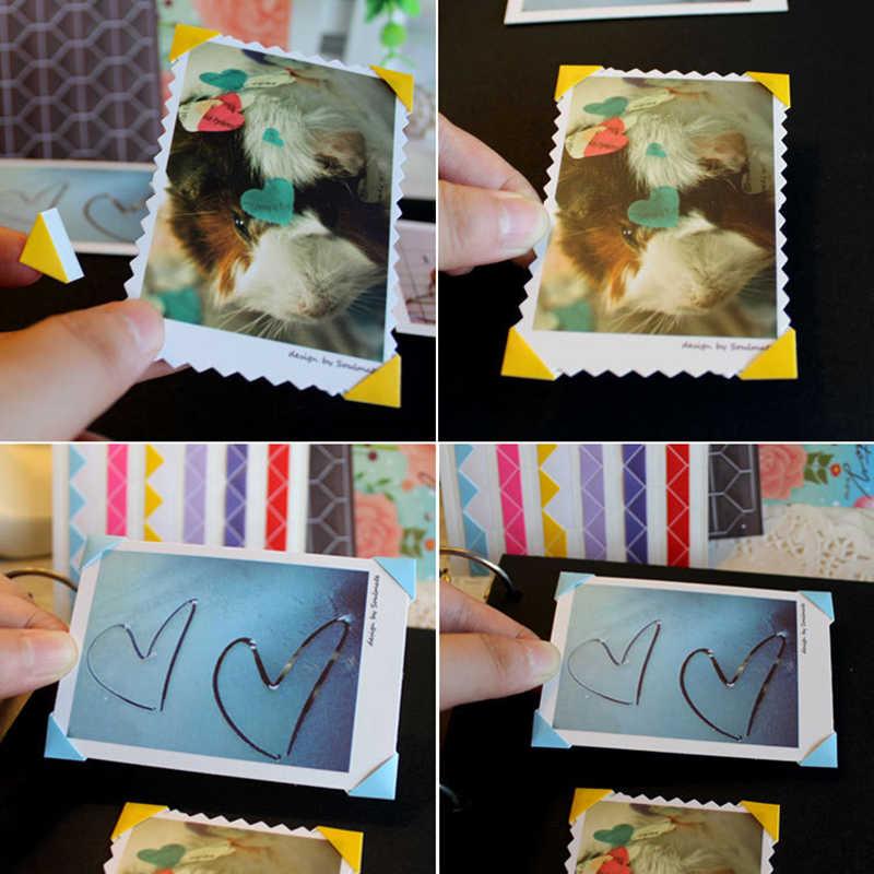 1 Sheet=102 pcs PVC Stickers DIY Colorful Corner Scrapbook Paper Photo Albums Frame Picture Decoration