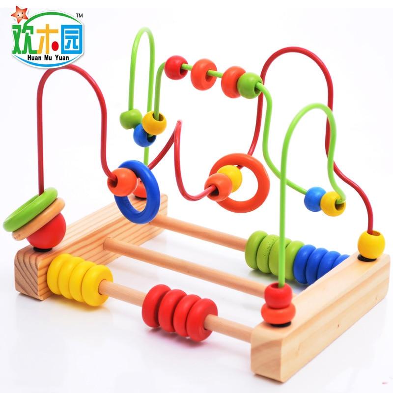 Bead Move Through Wooden Roller Coaster Bead Maze Move