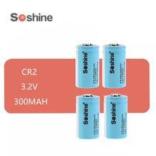 4 sztuk oryginalny SOSHINE LiFePo4 15266 z przepisami dla lotów według wskazań przyrządów (IFR) CR2 300MAH 3.2V akumulator baterii LIFEPO4 baterie niebieski