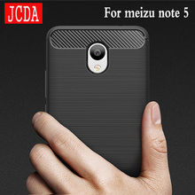 JCDA Brand For Meizu note5 M5 note 5 phone Case bag Carbon Fibre Brushed TPU soft protective Smart back cover shell Shockproof