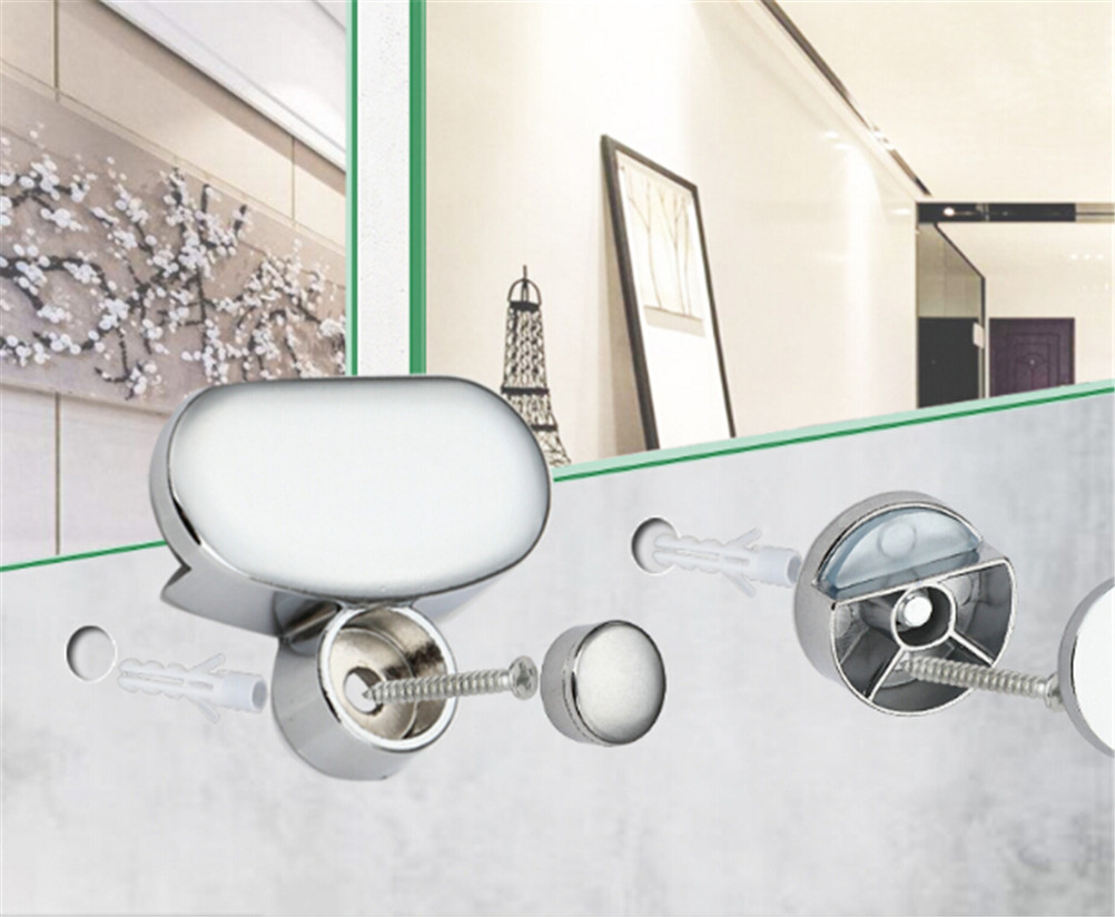 Bathroom Mirror Glass Mirror Hinger Fixed Accessories Advertising Plate Glass Clamp Fixed Clip Mirror Fixed Fitting New Arrival