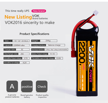 VOK POWER lipo battery 11.1v 2200mAh 25C 3S rc helicopter rc car rc boat quadcopter remote control toys Li-Polymer battery