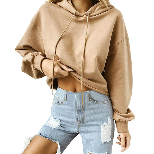 Autumn Printing lady s Pullovers Hoodie Women solid Hoodie Casual Tops  Round Neck Long Sleeve Shirts Multi-color S-2XL Size 0fc7f0c23b