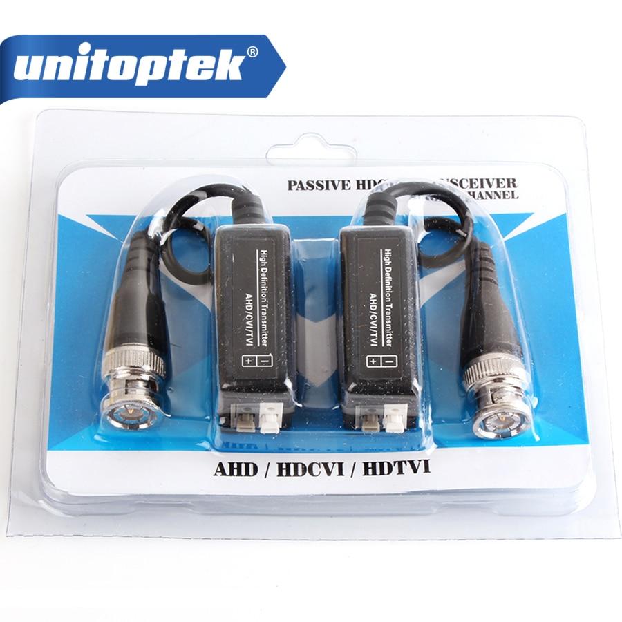 HD 720P/1080P AHD HDCVI HDTVI BNC Video Balun To UTP Cat5/5e/6 Passive Transceivers Adapter Transmitter 300m Distance