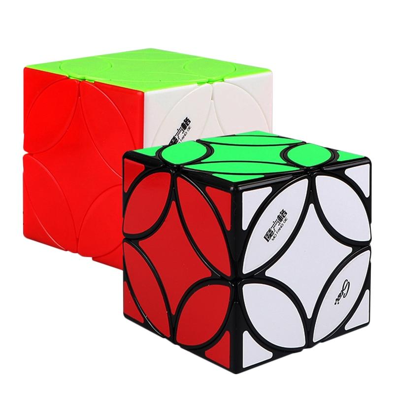 Cube de monnaie antique forme étrange Cube magique noir/sans bâton Cube de vitesse Puzzle Twist Cubes jouets pour enfants enfants (S8