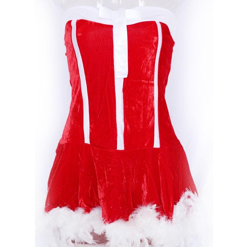Սեքսուալ Ձմեռ պապի զգեստները Կարմիր - Կարնավալային հագուստները - Լուսանկար 2