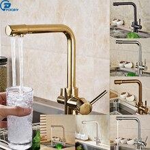 Poiqihy 7 типов двойной Носик Ванная комната Кухня очистки кран чистой питьевой воды кран двойной ручкой горячей и холодной смесители