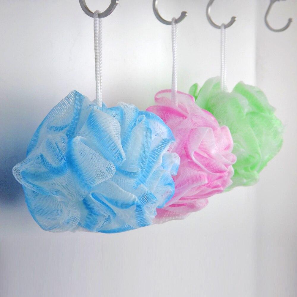 3 Pieces Sponge Set Small Bath Shower Puff Body Wash Scrunchie ...
