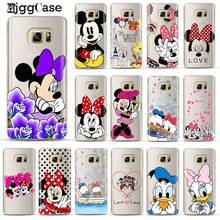 Cute Mickey Minnie Cover For Samsung Galaxy S10 S10E S10 Plus + 5G Case Soft TPU Silicone Cases For Samsung M10 M20 Phone Case