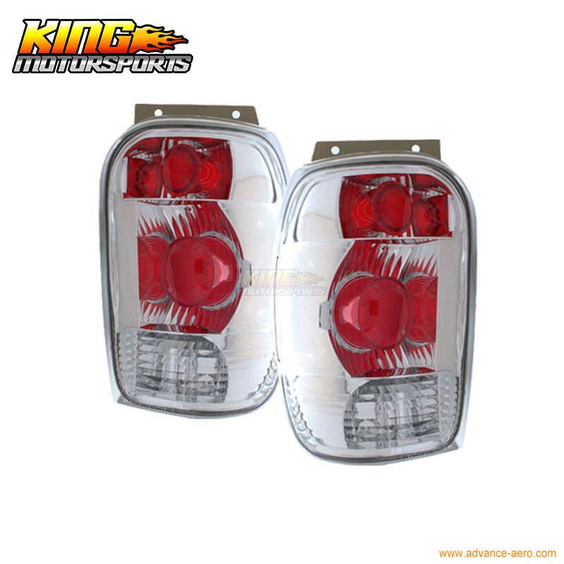For 1998-2001 Ford Explorer Mountaineer Tail Lights Chrome USA Domestic Free Shipping for 2004 2008 ford f150 chrome vertical front hood grill grille usa domestic free shipping hot selling