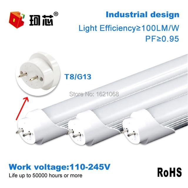 lâmpada led tubo tubular t8 soquete g13 60cm 90cm potência de 9