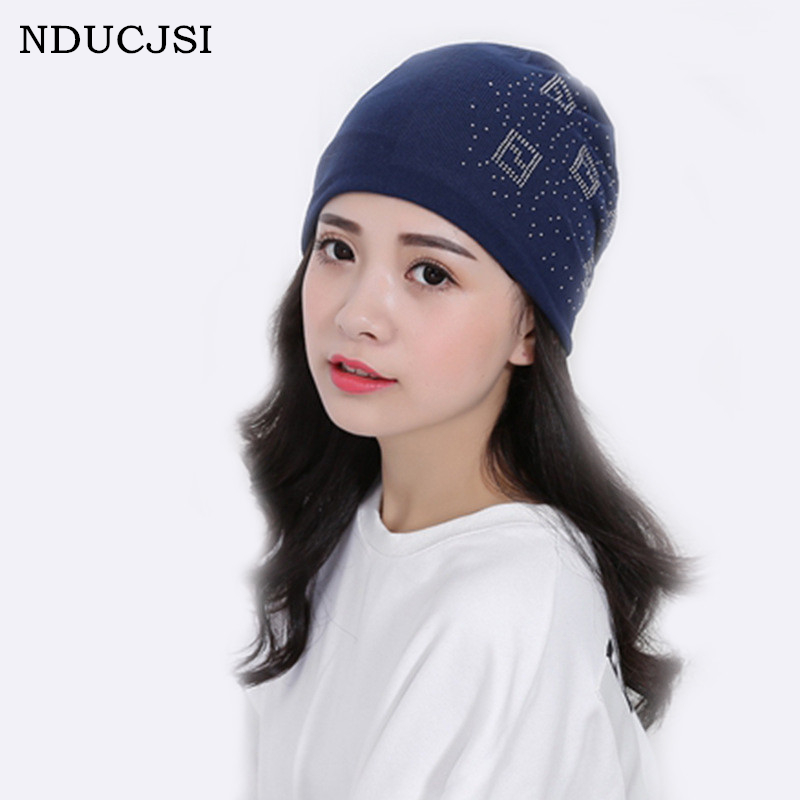 6d3817b74 US $3.15 |Girl Hats Deportes Beanies Autumn Winter Chinese Characters Women  Beanies Windproof Caps Diamond Female Bonnet Pattern Warm M079-in Skullies  ...