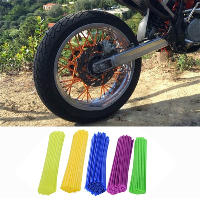 New Motocross Dirt Bike Enduro Wheel RIM SPOKE Shrouds SKINS COVERS Spoke Coats For Kawasaki Motocross retro tinplate metal motocross models collection classic handmade arts and crafts dirt bike model