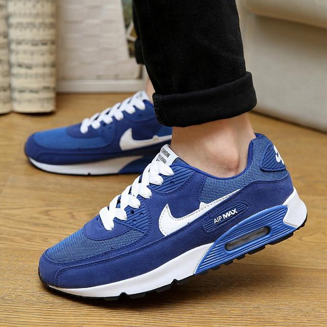 Zapatillas para correr al aire libre oficiales para hombres, deportivas, con amortiguación de malla, 90 zapatillas deportivas transpirables y ligeras