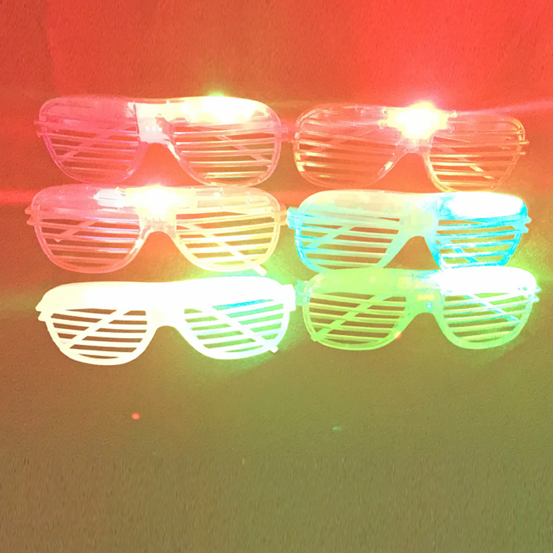 2018 Sale Costume Leds 20pcs/lot Led Party Light Up Glasses Fashion Neon For Xmas Birthday Halloween Bar Costume Decor Supplies