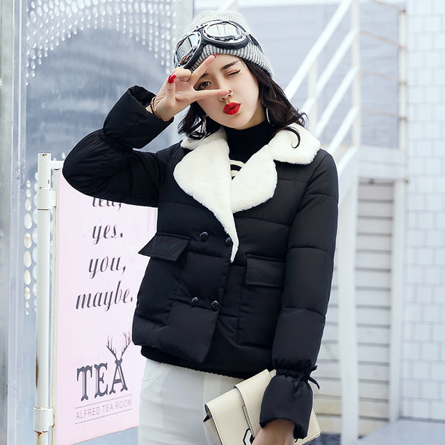 Aliexpress.com : Buy 2017 Lamb Winter Jacket Short Down Jacket ...