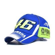 Hight quality YAMAHA Rossi VR 46 Caps Baseball Caps Snapback Bones Masculino Moto Gp Black Blue Motorcycle Men Women Casquette