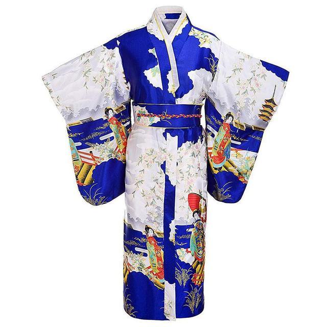 Stylish Pink Japanese Women's Satin Kimono Classic Yukata Haori Novelty Evening Dress Flower Dropshipping One Size H0003