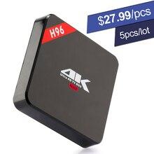 DHL Android TV Box RK3229 Quad Core H96 Mini PC 1GB RAM 8GB ROM 4K 3D Streaming Media Player Wifi OTT Set Top Box DLNA AirPlay