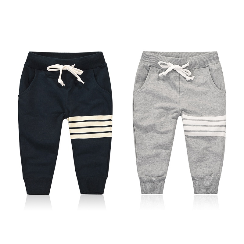2018 Spring Autumn New Kids Pants Baby Boys Casual Pants Kids Clothing Cotton Boys Long Trousers Baby Boys Clothing Pants autumn winter korean baby boys pants cotton boys casual long trousers kids stripe clothing harem pants elastic waist jogger pant