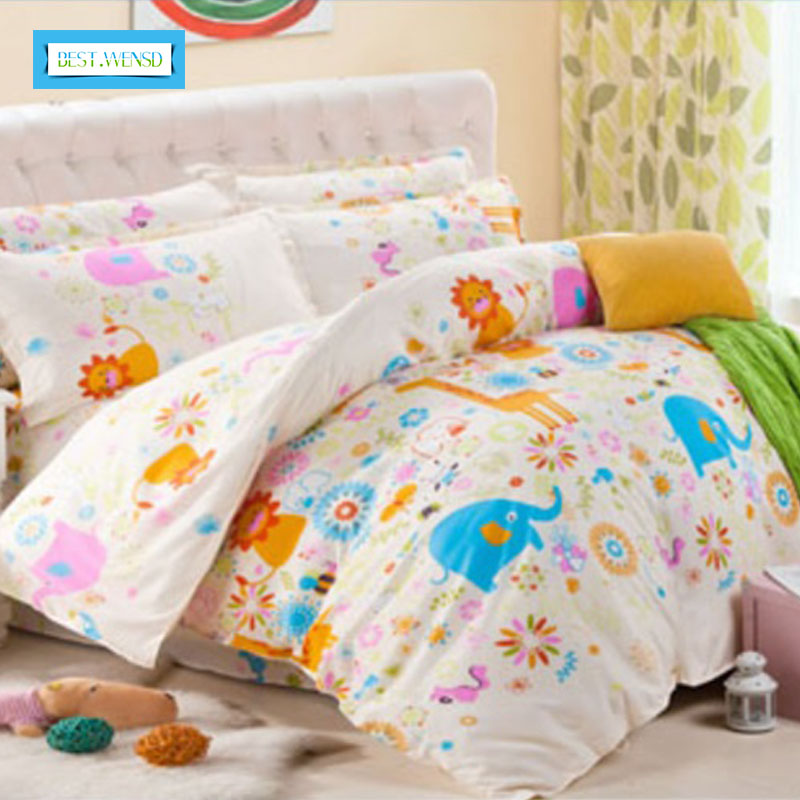 BEST.WENSD Home Textile Reactive Print 4 Pcs Bedding Set Luxury Include Duvet Cover&Bed sheet & Pillowcase Housse De CouetteBEST.WENSD Home Textile Reactive Print 4 Pcs Bedding Set Luxury Include Duvet Cover&Bed sheet & Pillowcase Housse De Couette