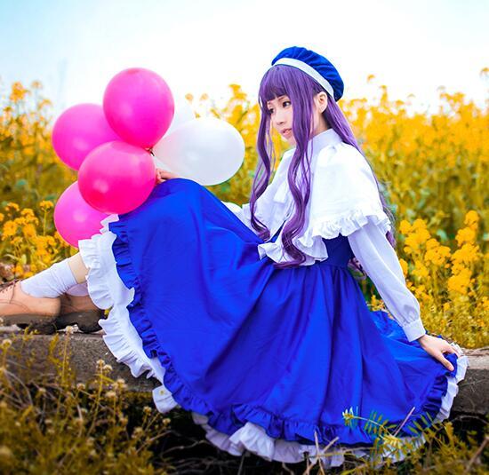 Cosplay japonais anime carte Captor Sakura Daidouji tomoyo bleu robe doux calme Cos vêtements