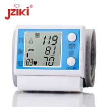 JZIKI Digital pulse wrist bp Blood Pressure Monitors meters tonometer pulsometro sphygmomanometer cuff health care monitors цена в Москве и Питере