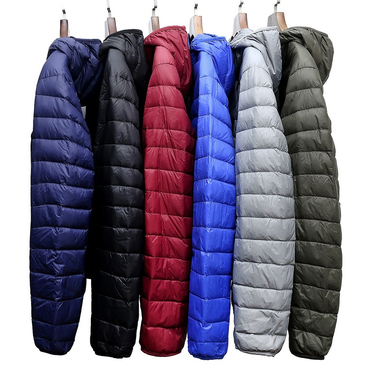 2020 Winter Fashion Brand Ultralight Duck Down Jacket Hooded Packable Streetwear Feather Coats Waterproof Warm Men Clothes