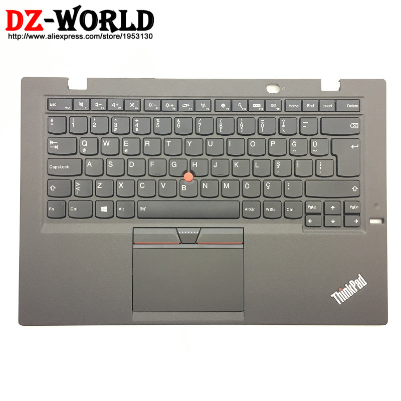TR New Orig for Thinkpad X1 Carbon Gen 3rd 20BS 20BT Turkish Backlit Keyboard with Palmrest