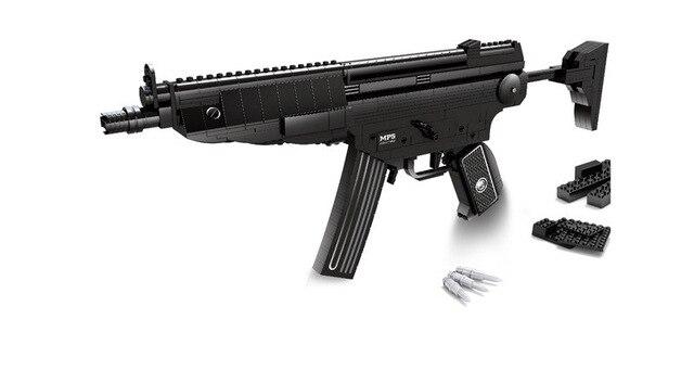 Сборка детские игрушки строительный блок супер оружие серии-MP5 штурмовое орудие legoes