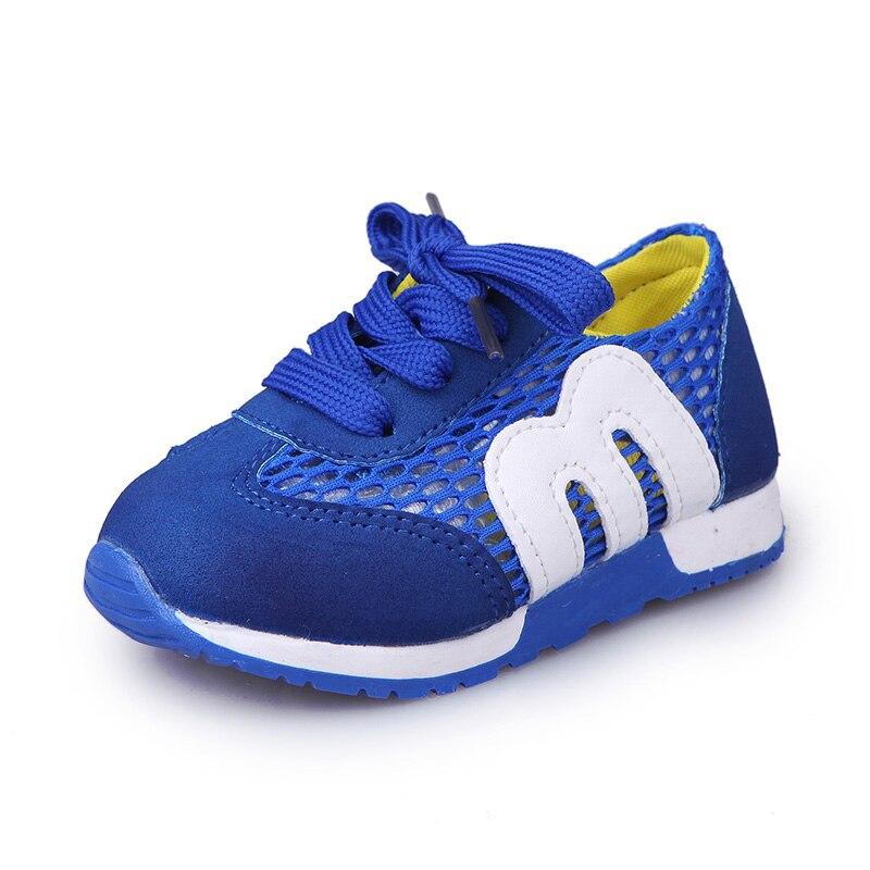 Children's M Alphabet Shoes Mesh Running Kids Shoes Sports Non-slip Sneakers For Girls Boys (Single Layer Mesh)